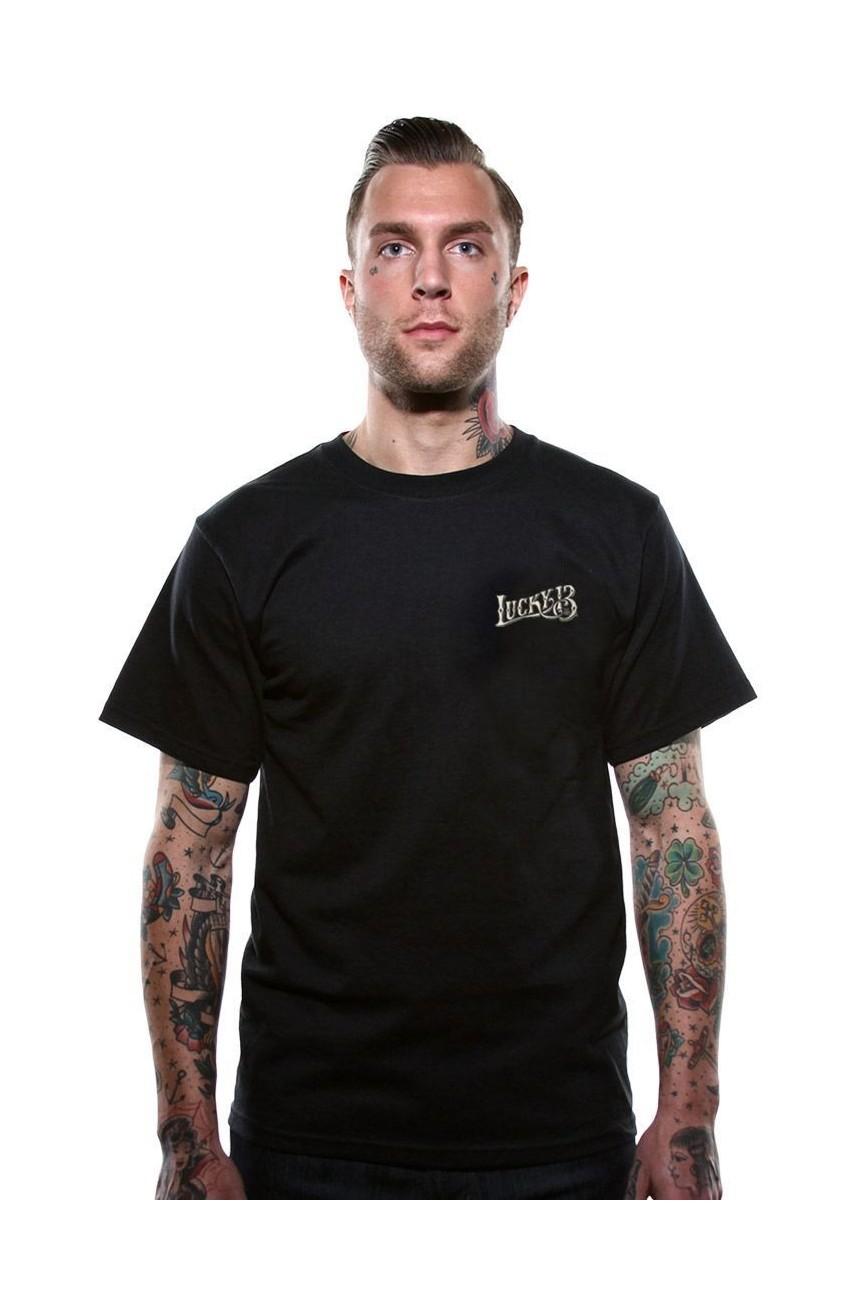 Tee shirt tête de mort lucky13