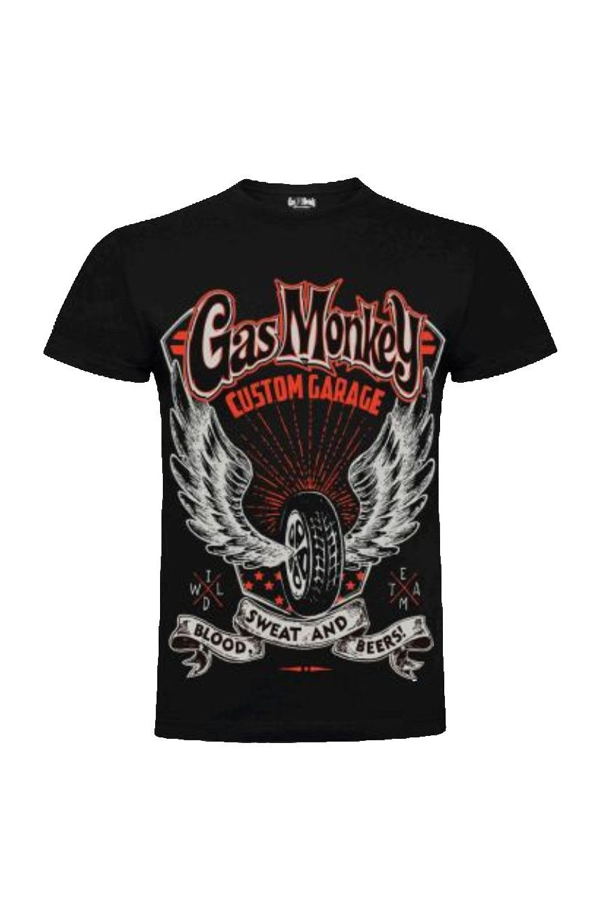 Gas monkey tee shirt wings