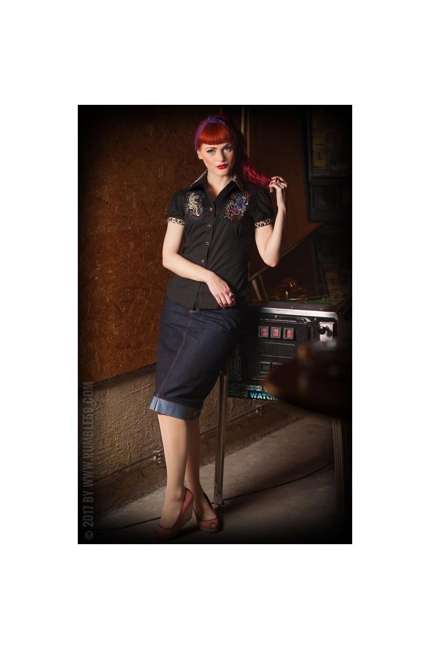 chemise rockabilly femme rumble 59
