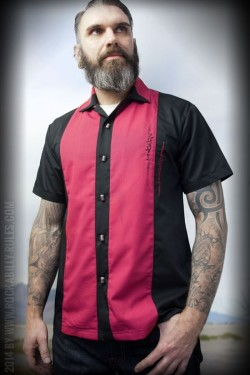 Chemise rockabilly boutons micro