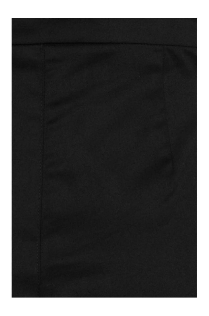Pantacourt noir taille haute
