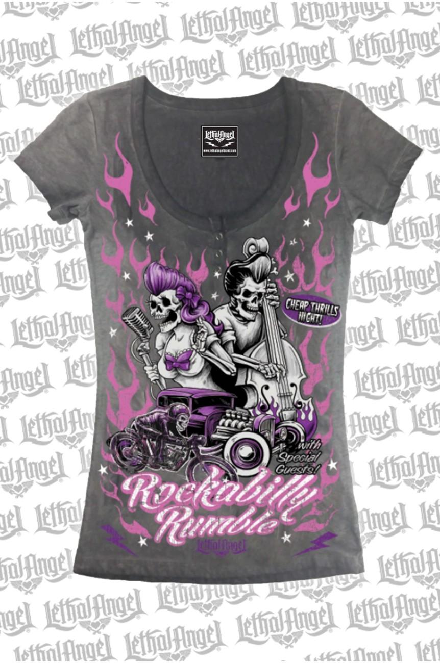 Tee shirt psychobilly femme