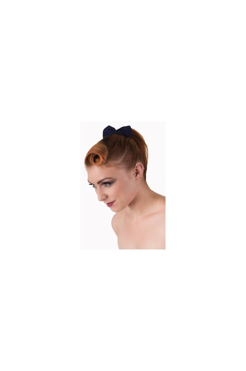 Noeud élastique bleu pour cheveu