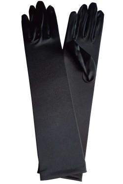 Gants long noirs en satin