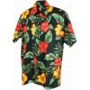 Chemise Hawaïenne Surf hibiscus et palmes