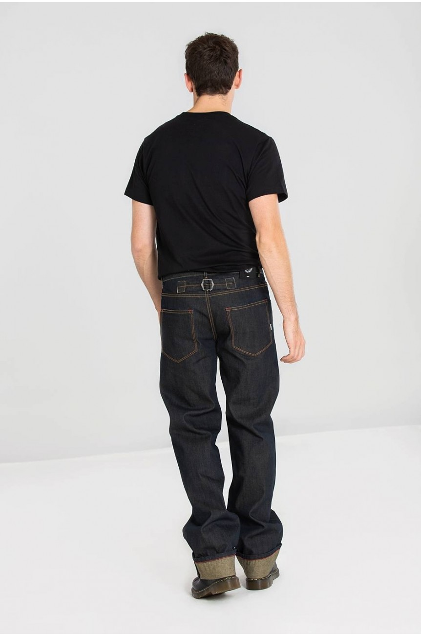Jean rockabilly homme ourlet large custom