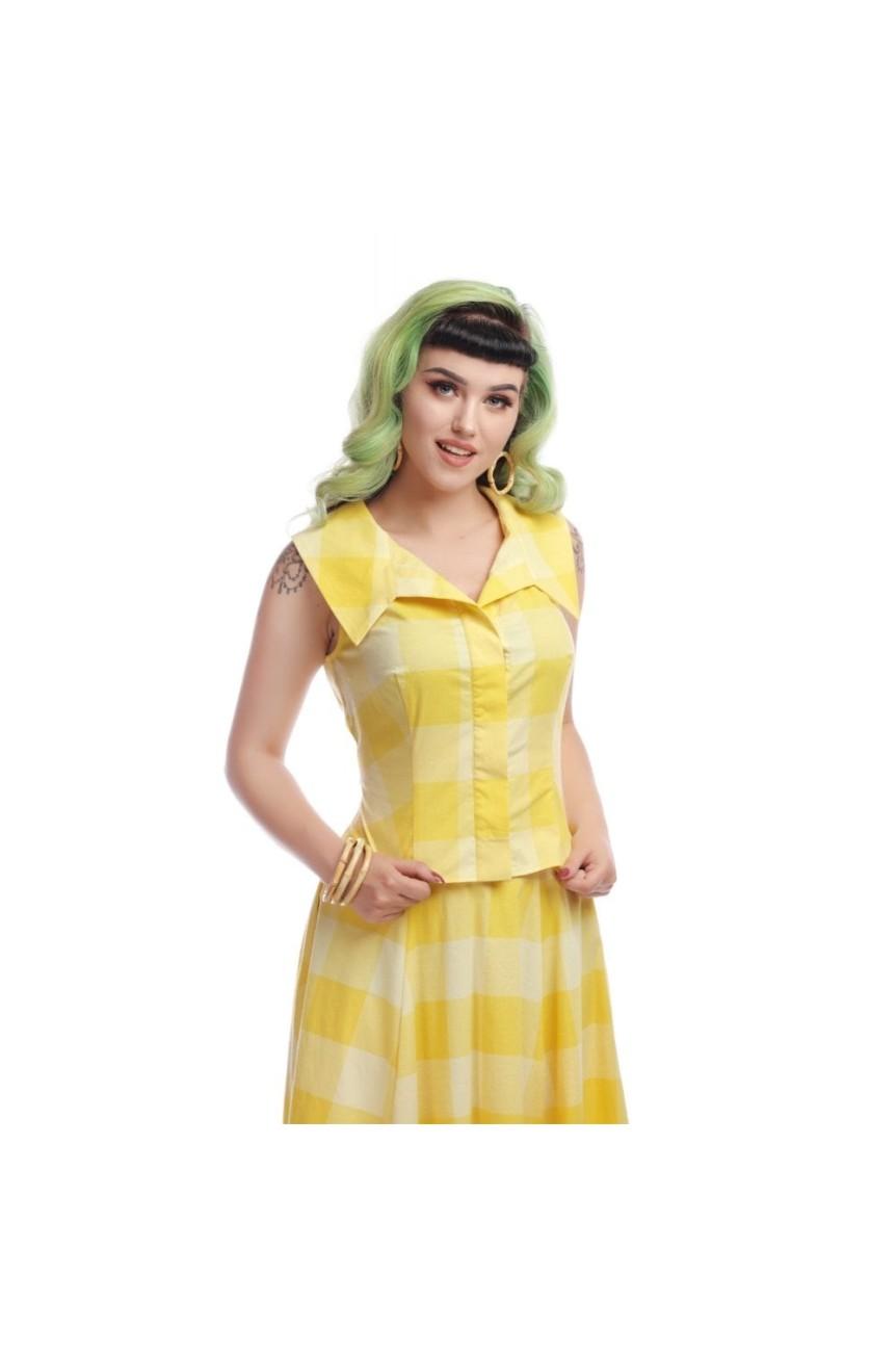 Blouse vintage jaune