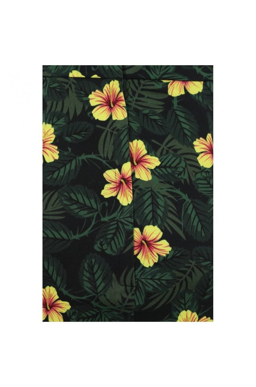 Jupe tropicale portefeuille hibiscus