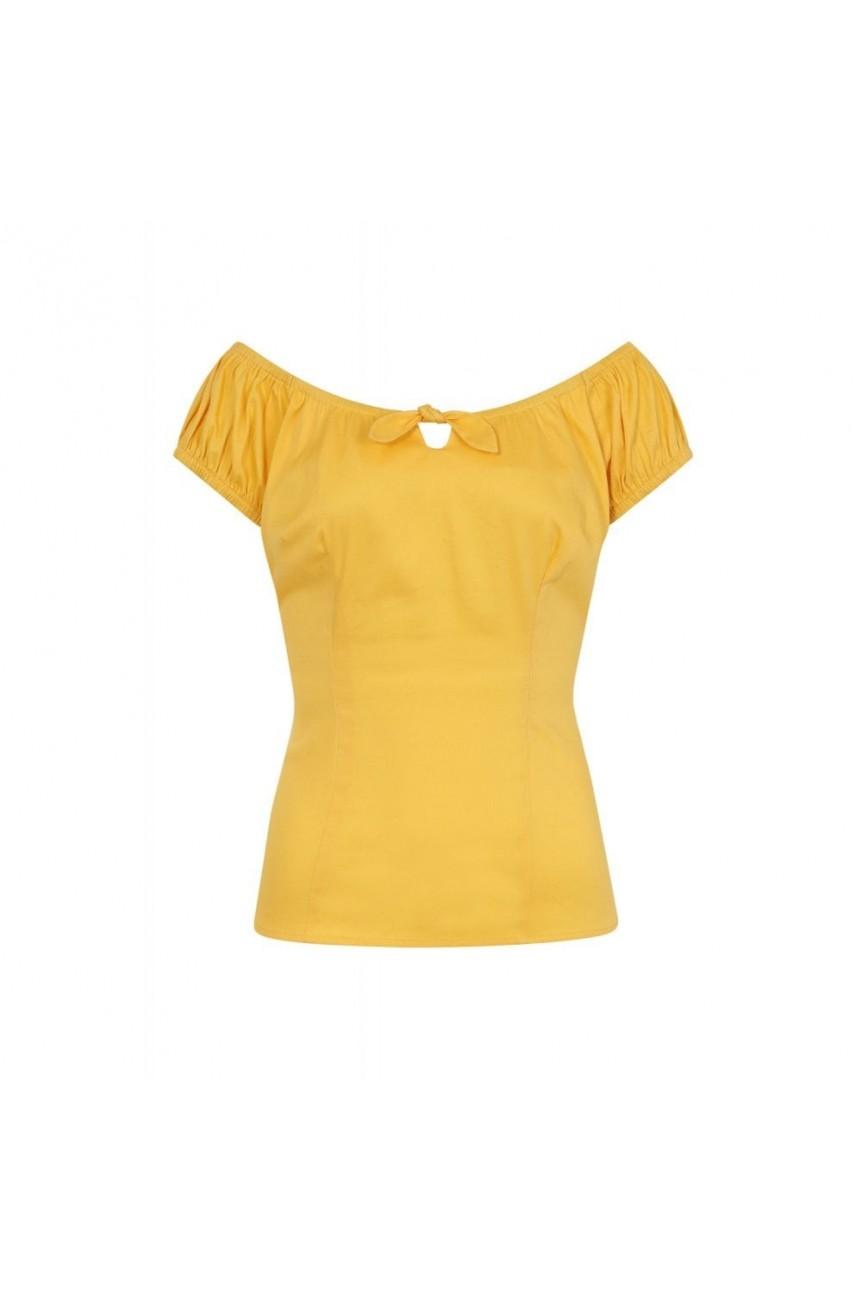 top pin-up jaune
