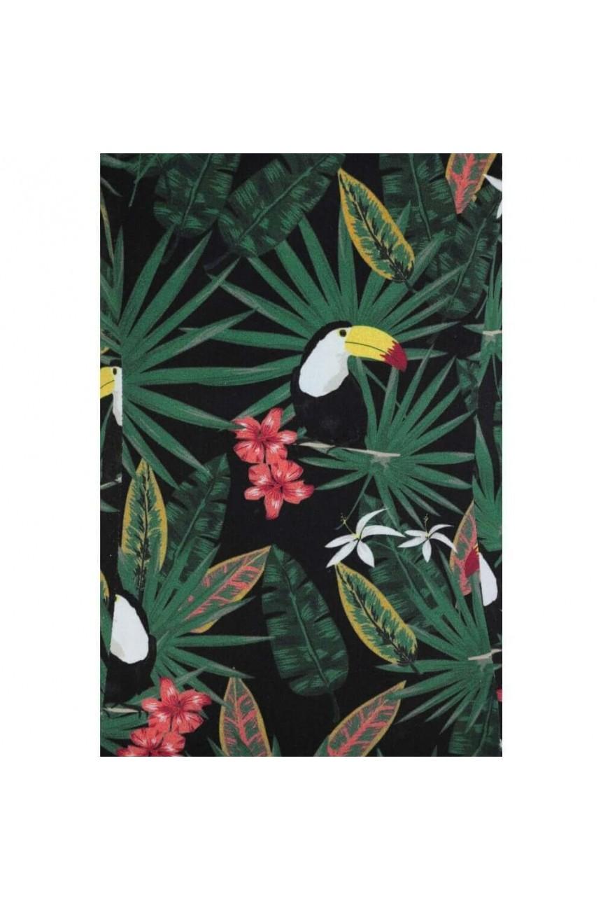 Haut pin up imprimé tropical