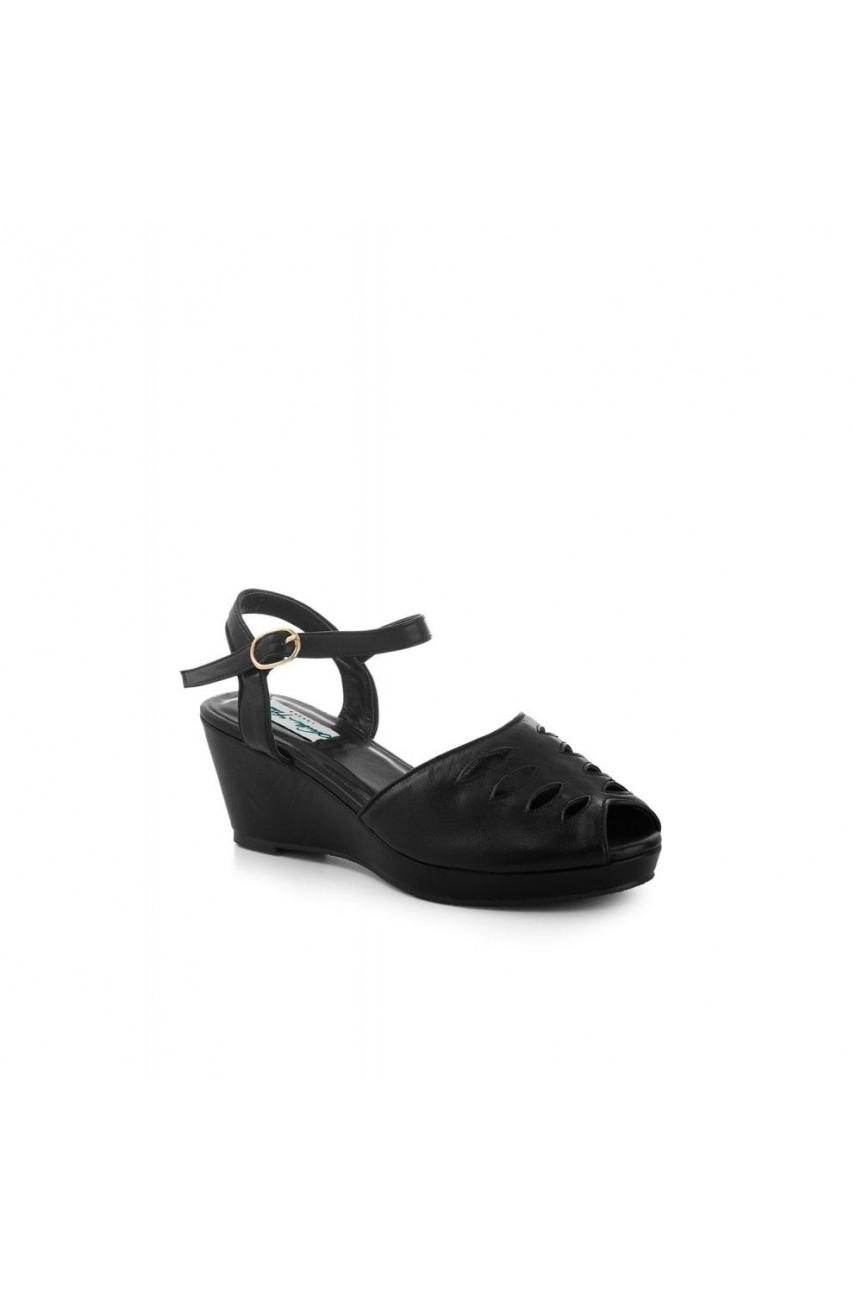 Chaussures rétro noires ouvertes