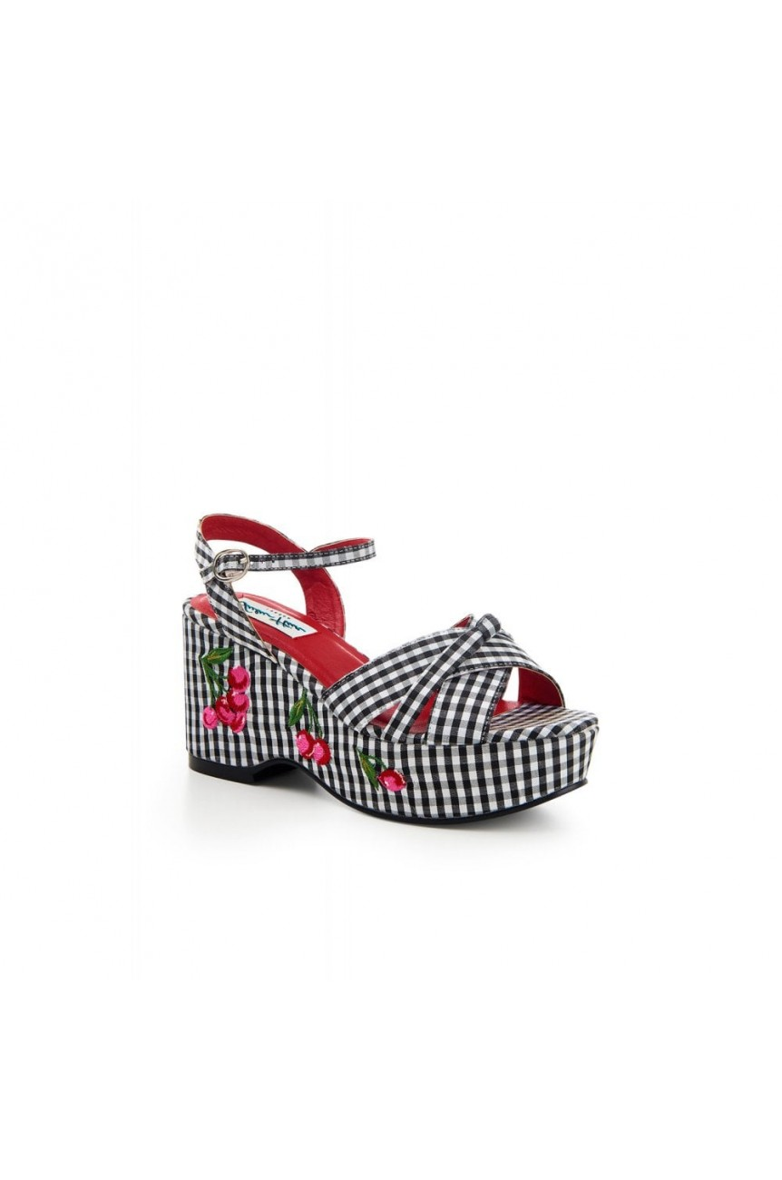 Chaussures compensées vichy