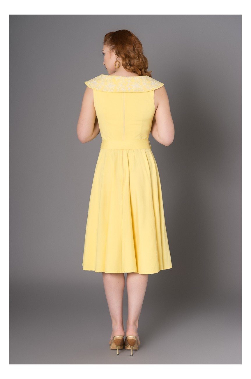 Robe pin up jaune années50