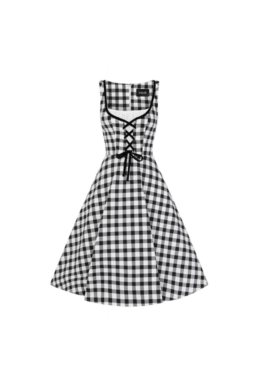 Robe Vichy noir collectif cloting