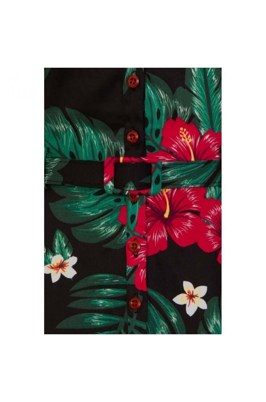 Robe vintage a motif tropical