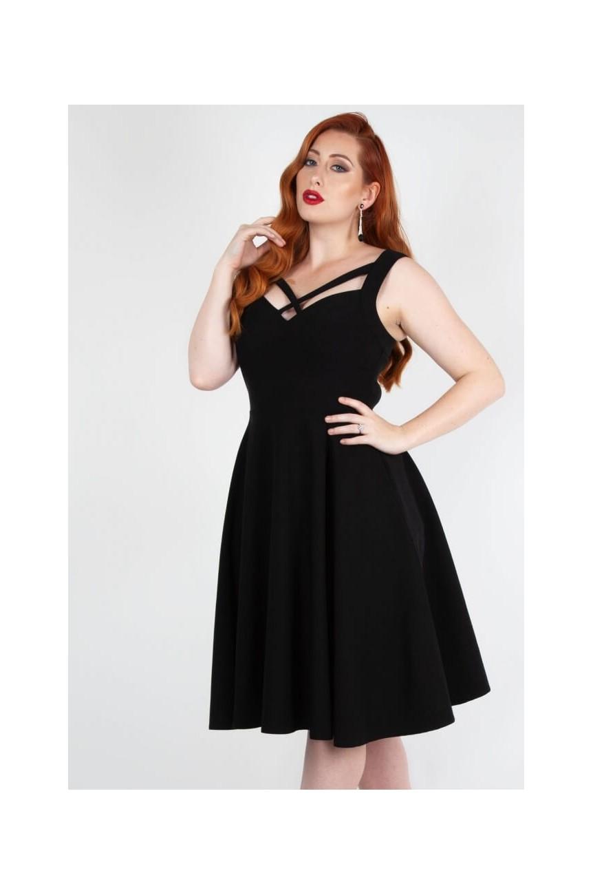 Robe noire extensible