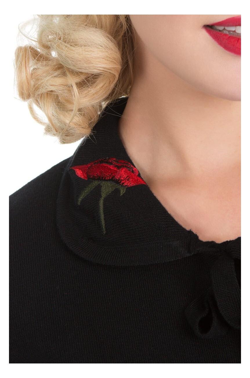 Cardigan brode de roses