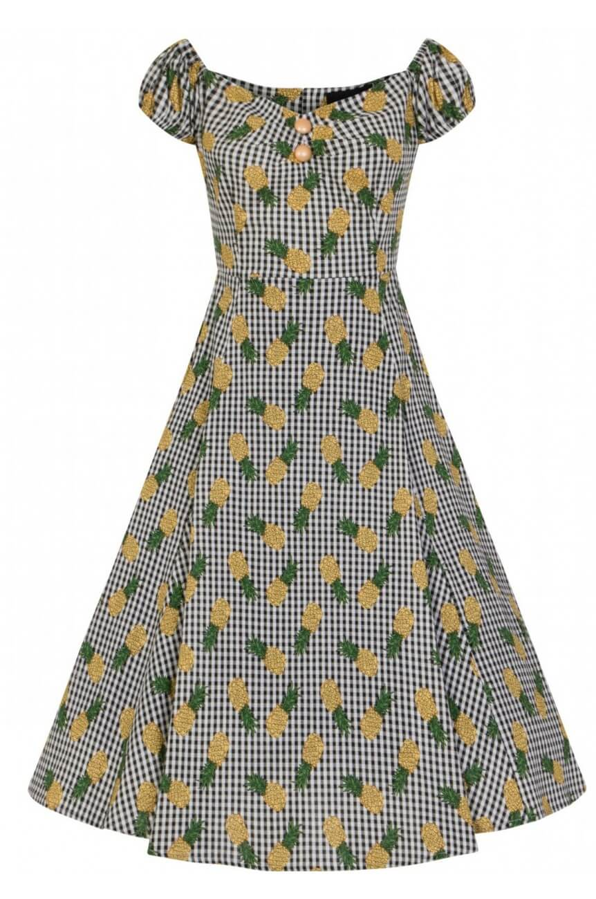Robe swing collectif ananas