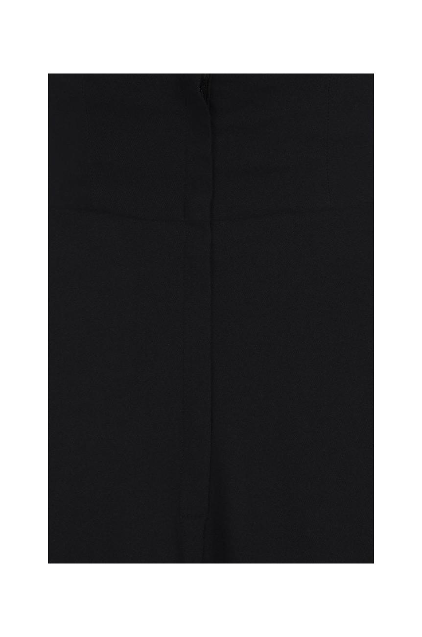 Jupe swing noire taille haute a bretelles