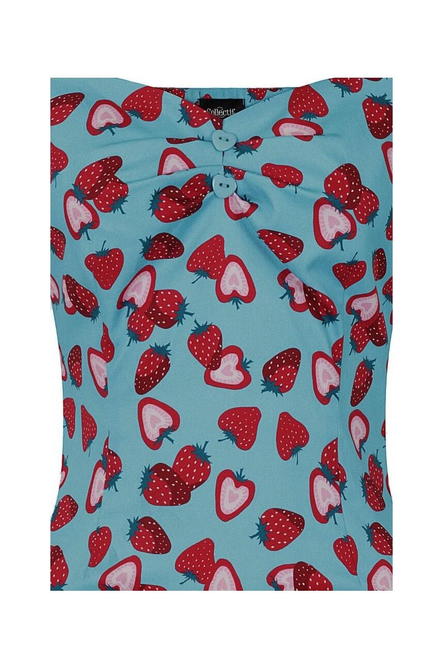 Haut pin-up collectif fraises