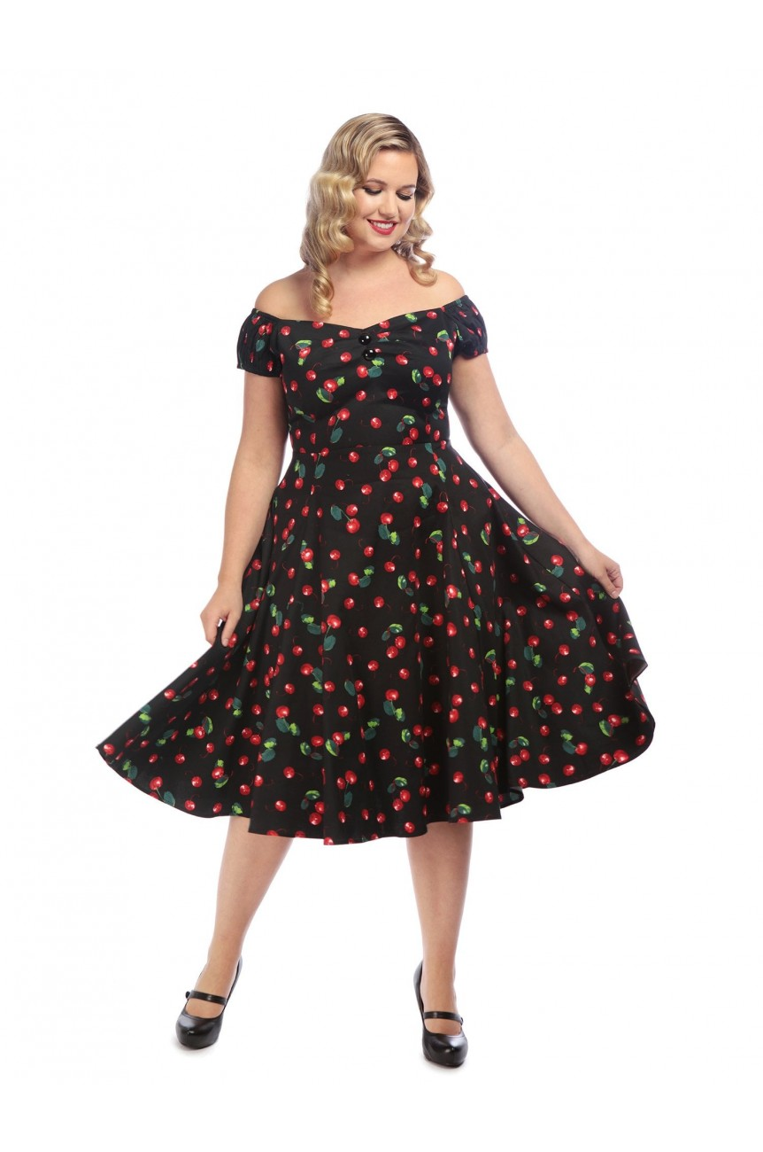 Robe pin-up cerises collectif france