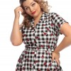 Robe pin-up vichy plus size