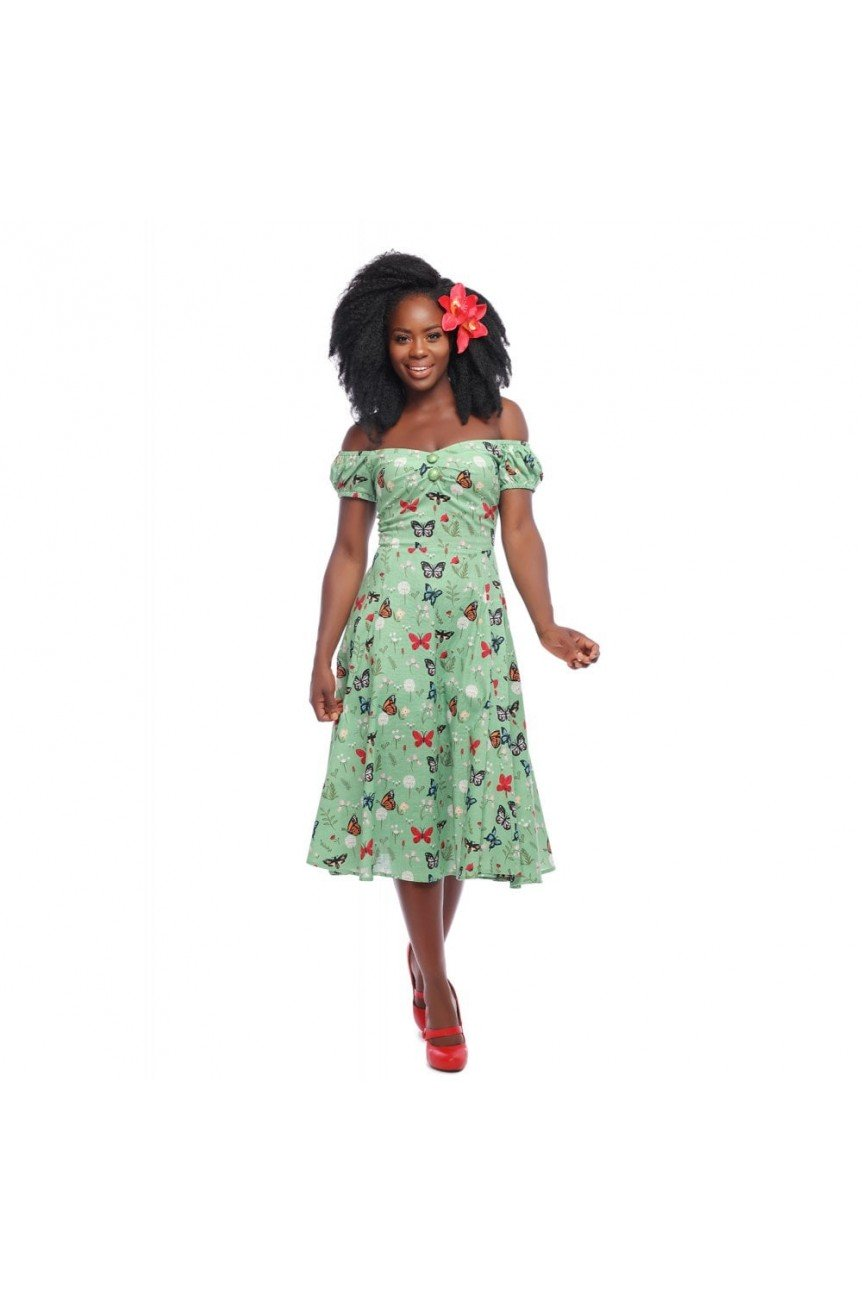 Robe papillons vintage
