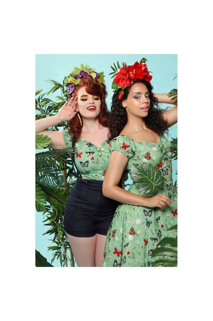 Robe papillons collectif pin-up