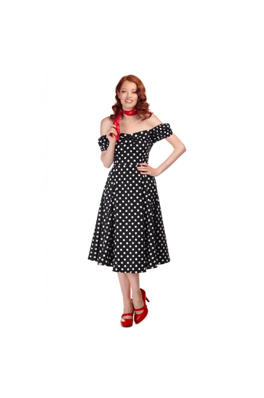 Robe pin-up vintage pois