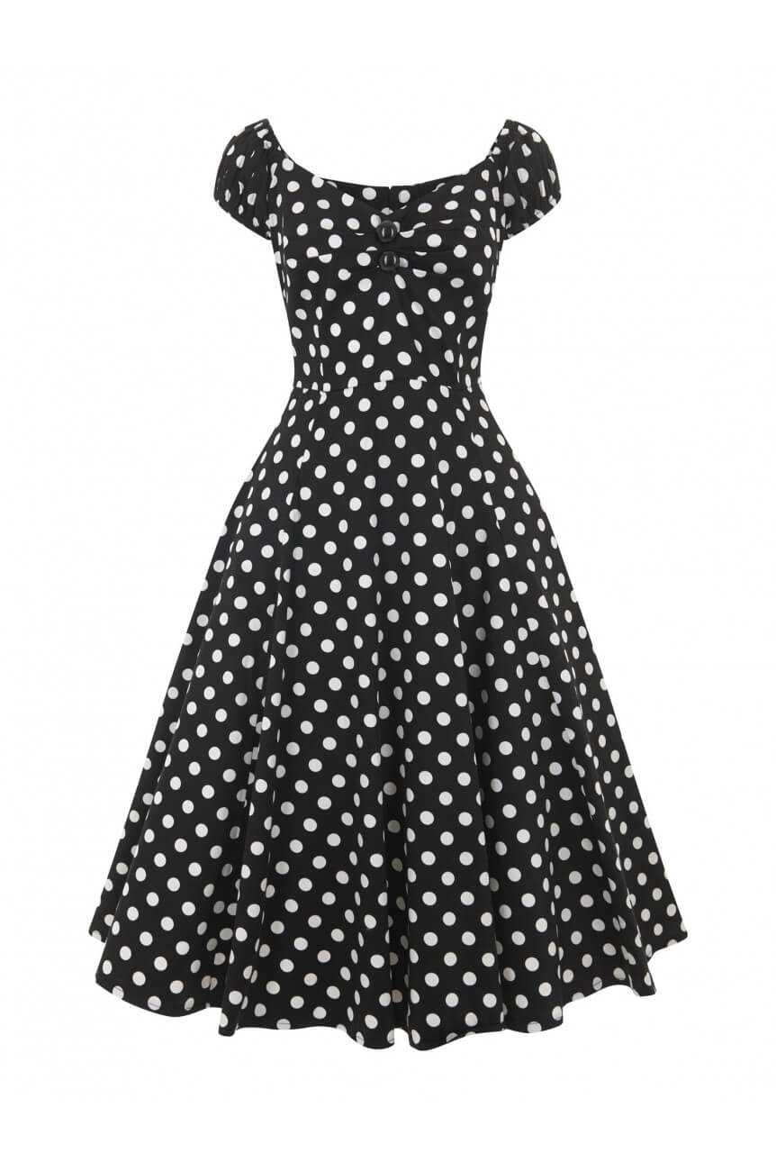 Robe pin-up finies pois