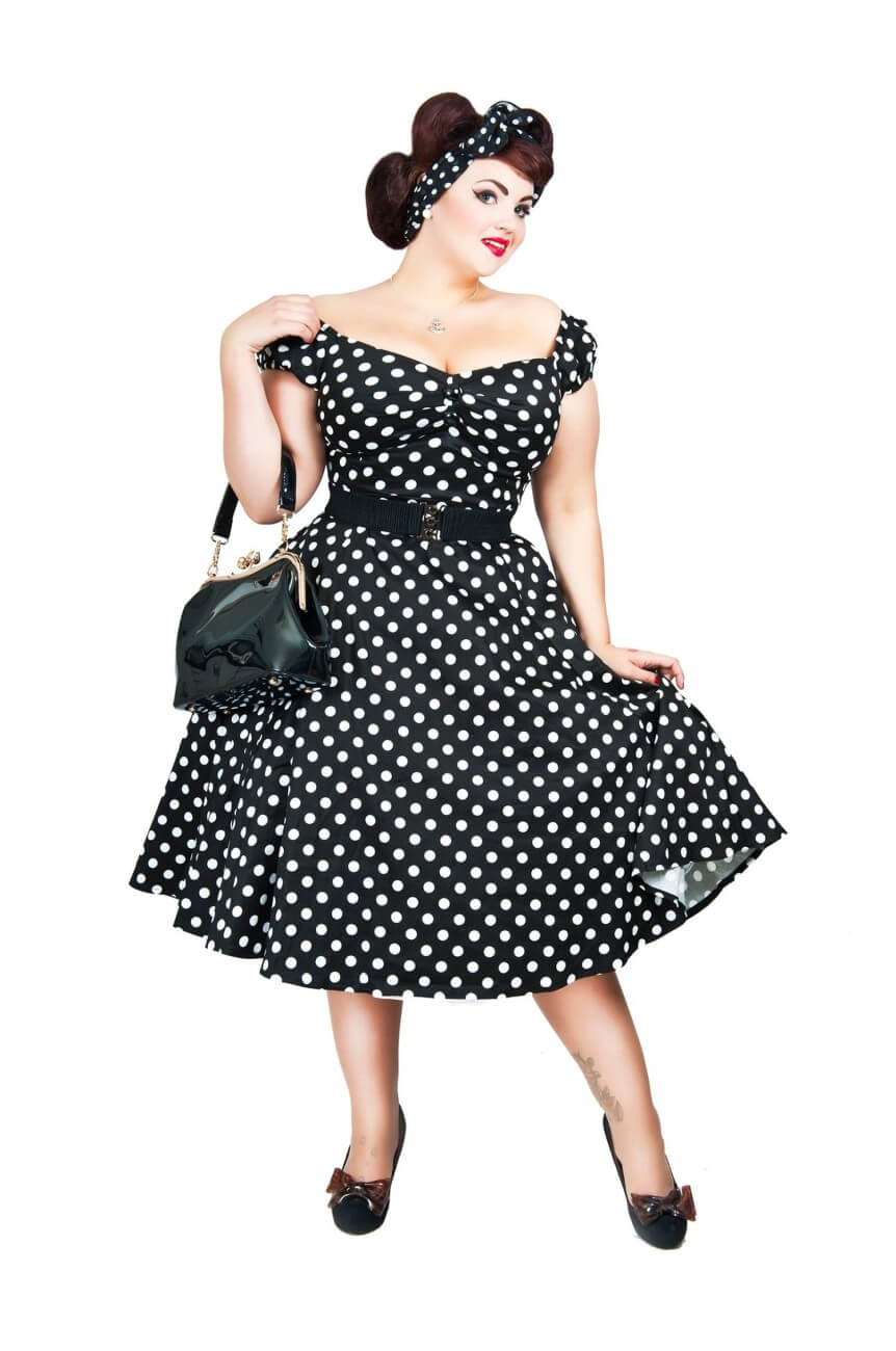 Robe pin-up pois grande taille
