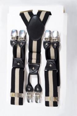 Bretelle noire et beige