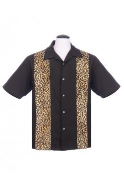 Chemise rockabilly leopard homme