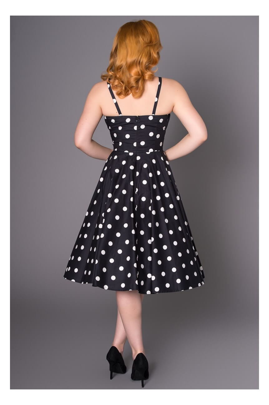 Robe pin up a pois blanc