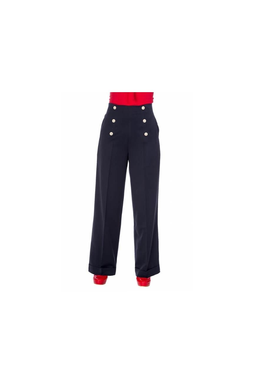 Pantalon à pont Banned retro