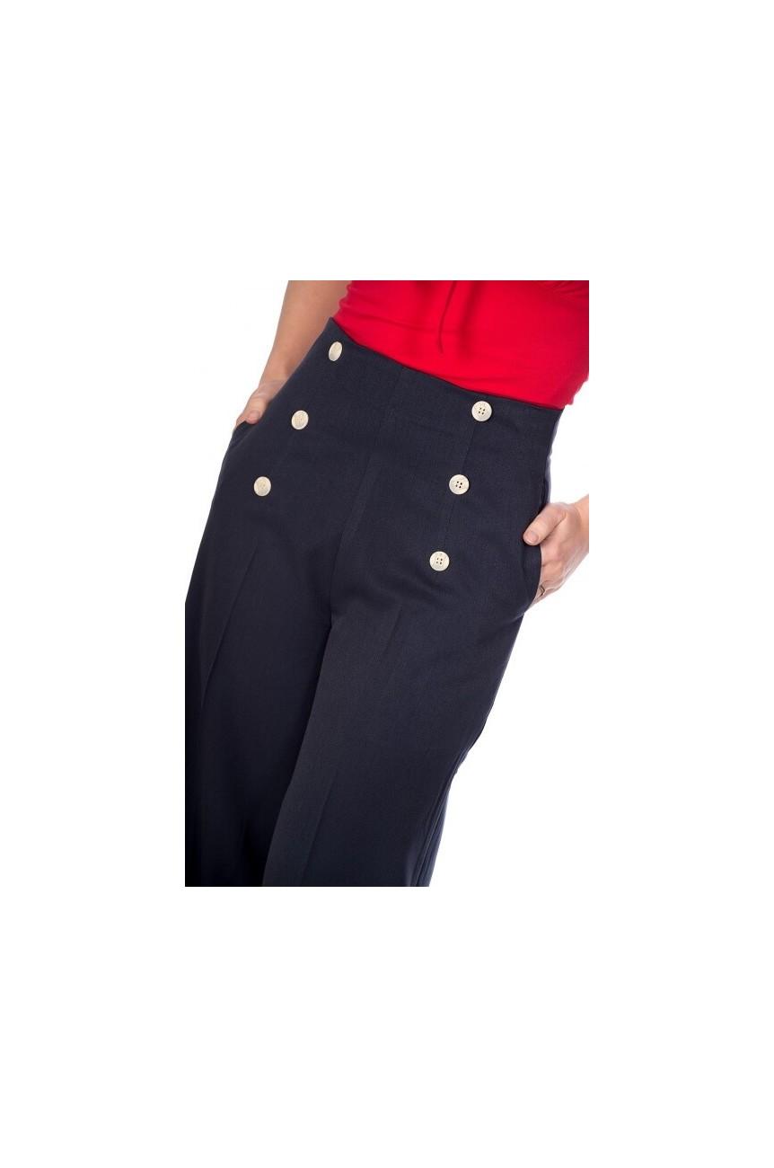 Pantalon Banned retro à pont