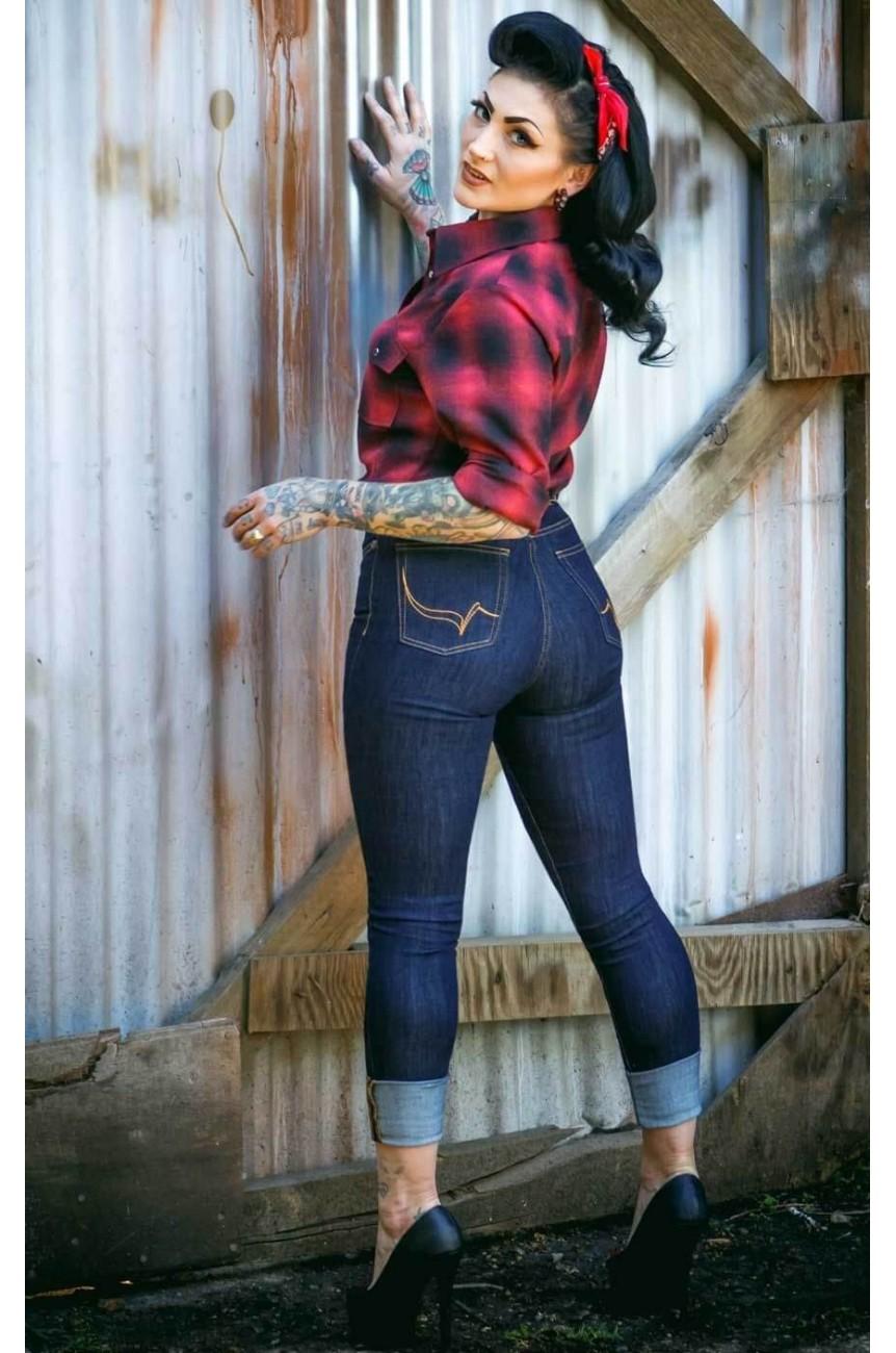Rumble59 jean bleu femme