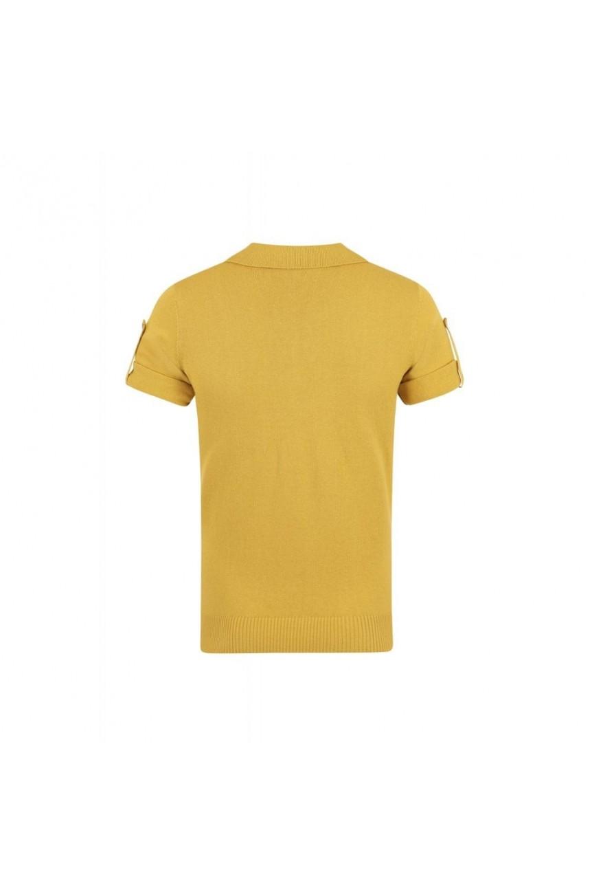 Polo rétro moutarde année 50