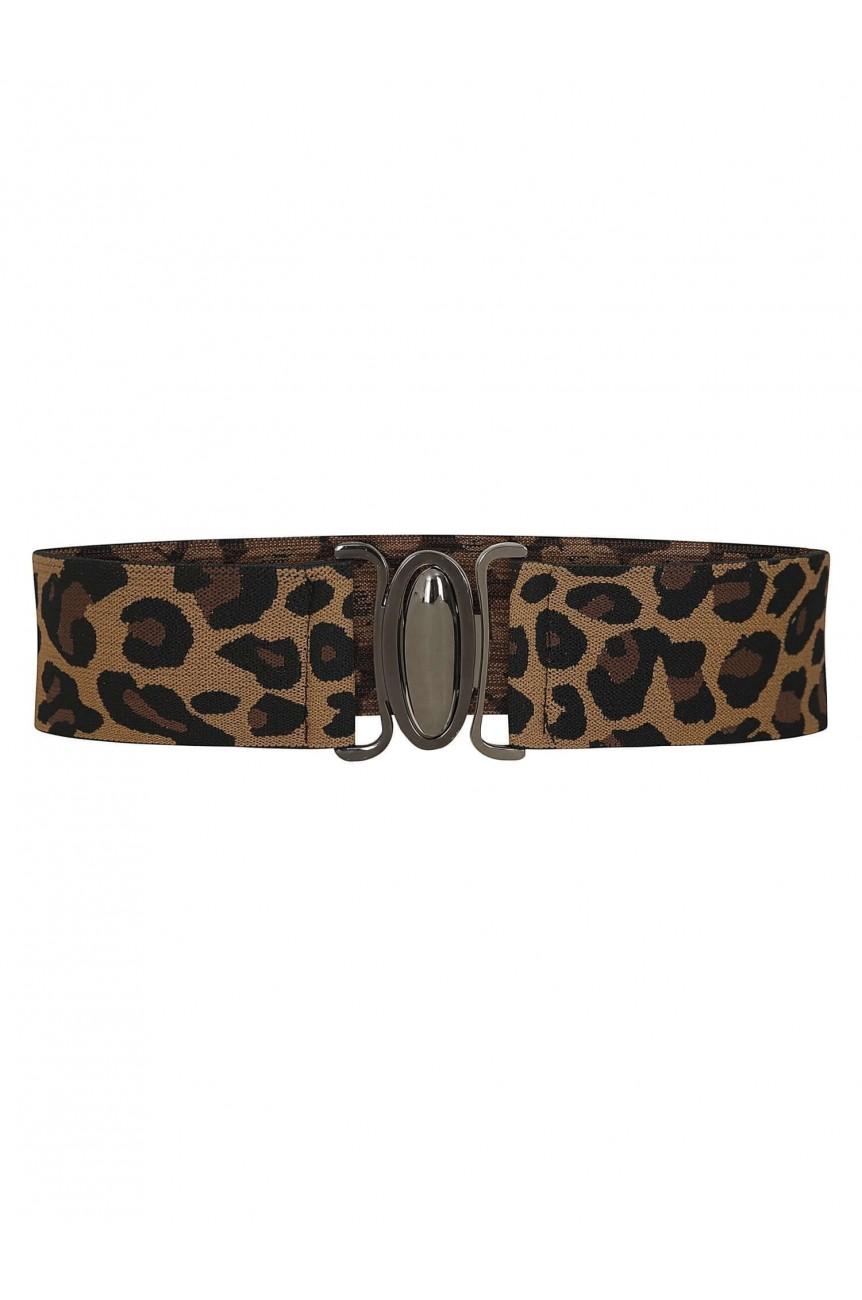 Ceinture leopard pin-up rockabilly