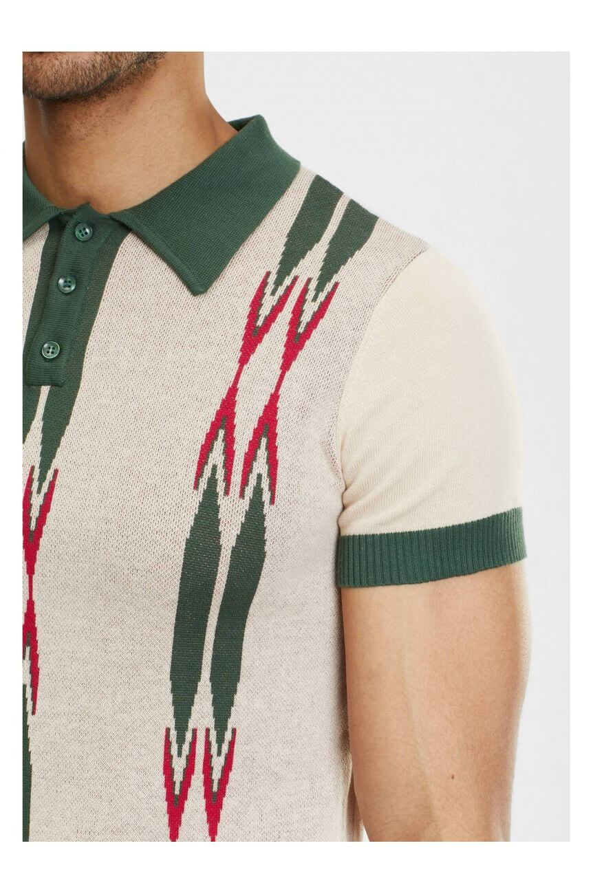 Polo maille rockabilly vintage homme