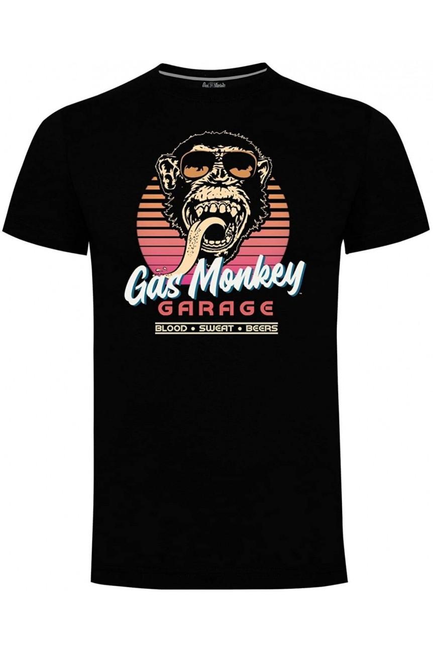 Tee shirt gas monkey garage France logo