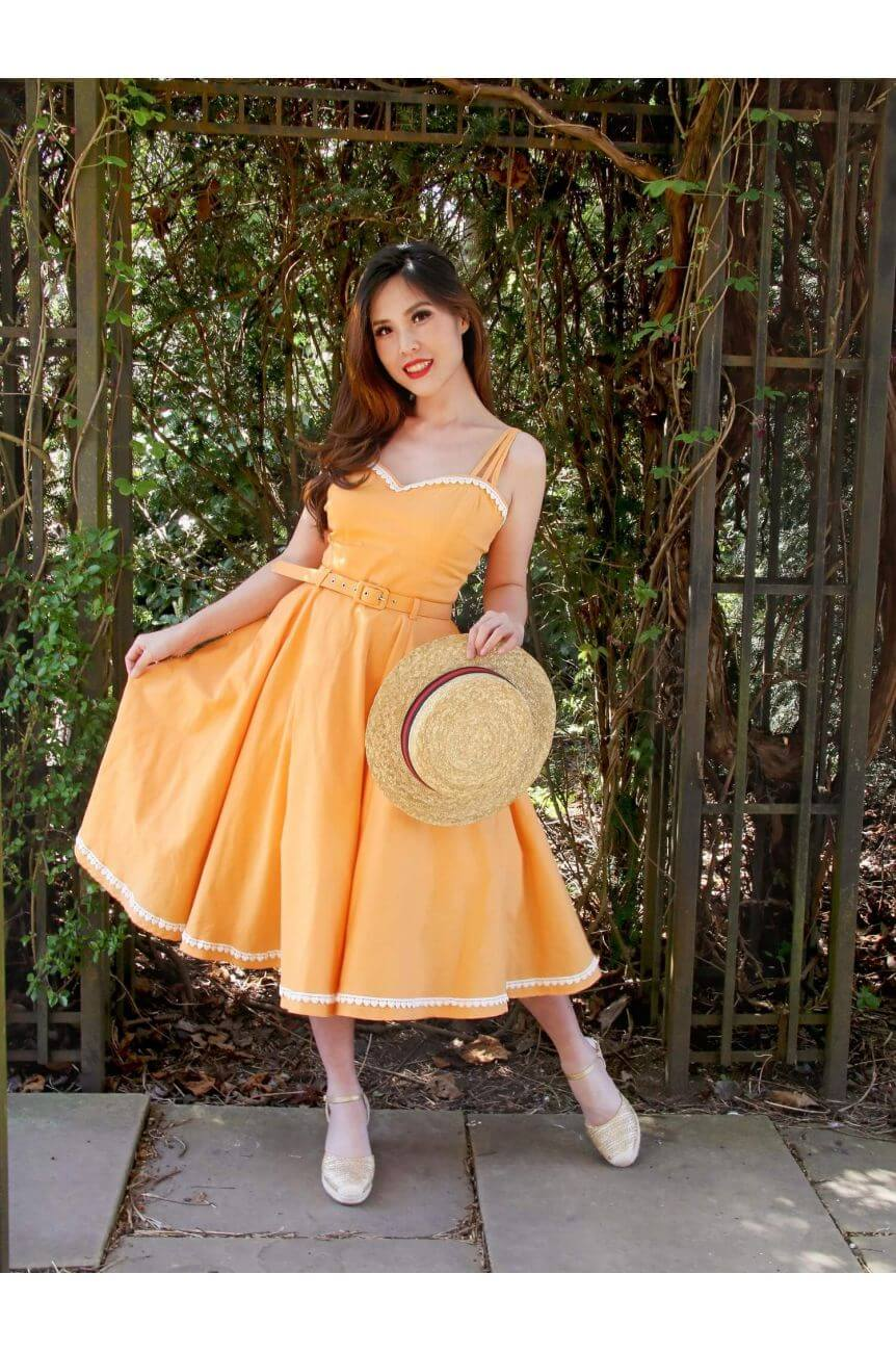 Robe lindy bop orange