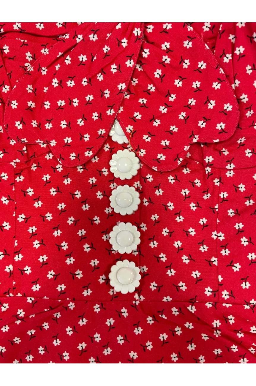 Robe swing dos nu rouge pinup
