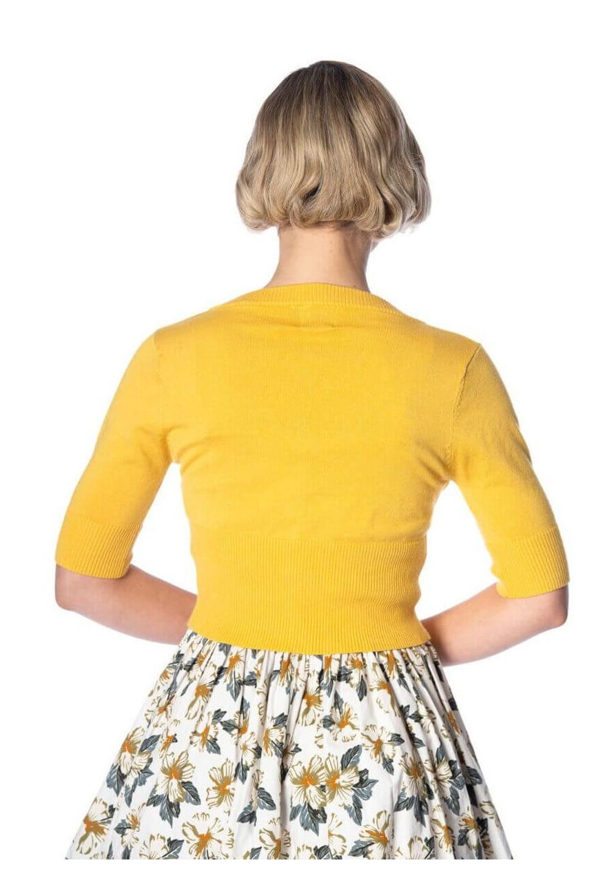 Cardigan jaune vintage