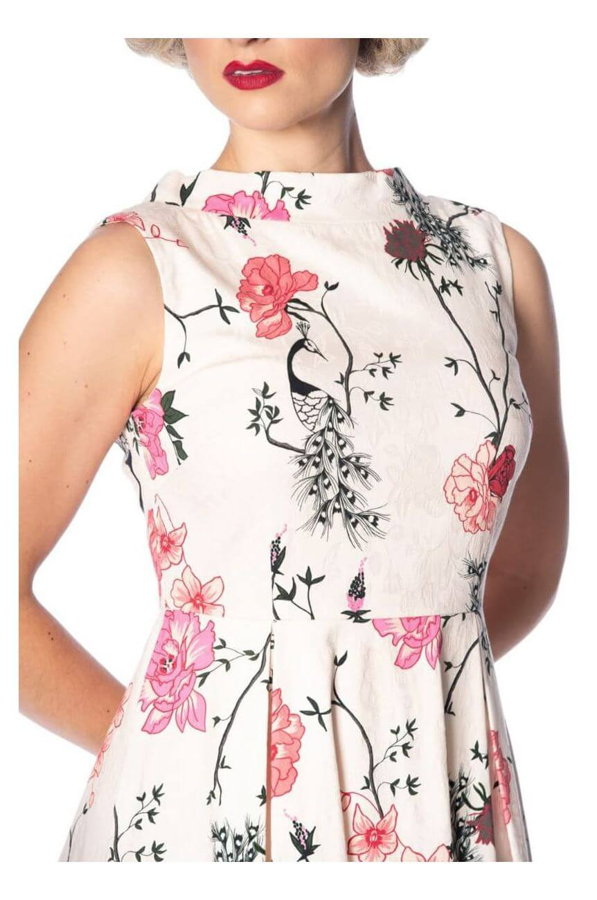 Robe fleurie banned ecrue
