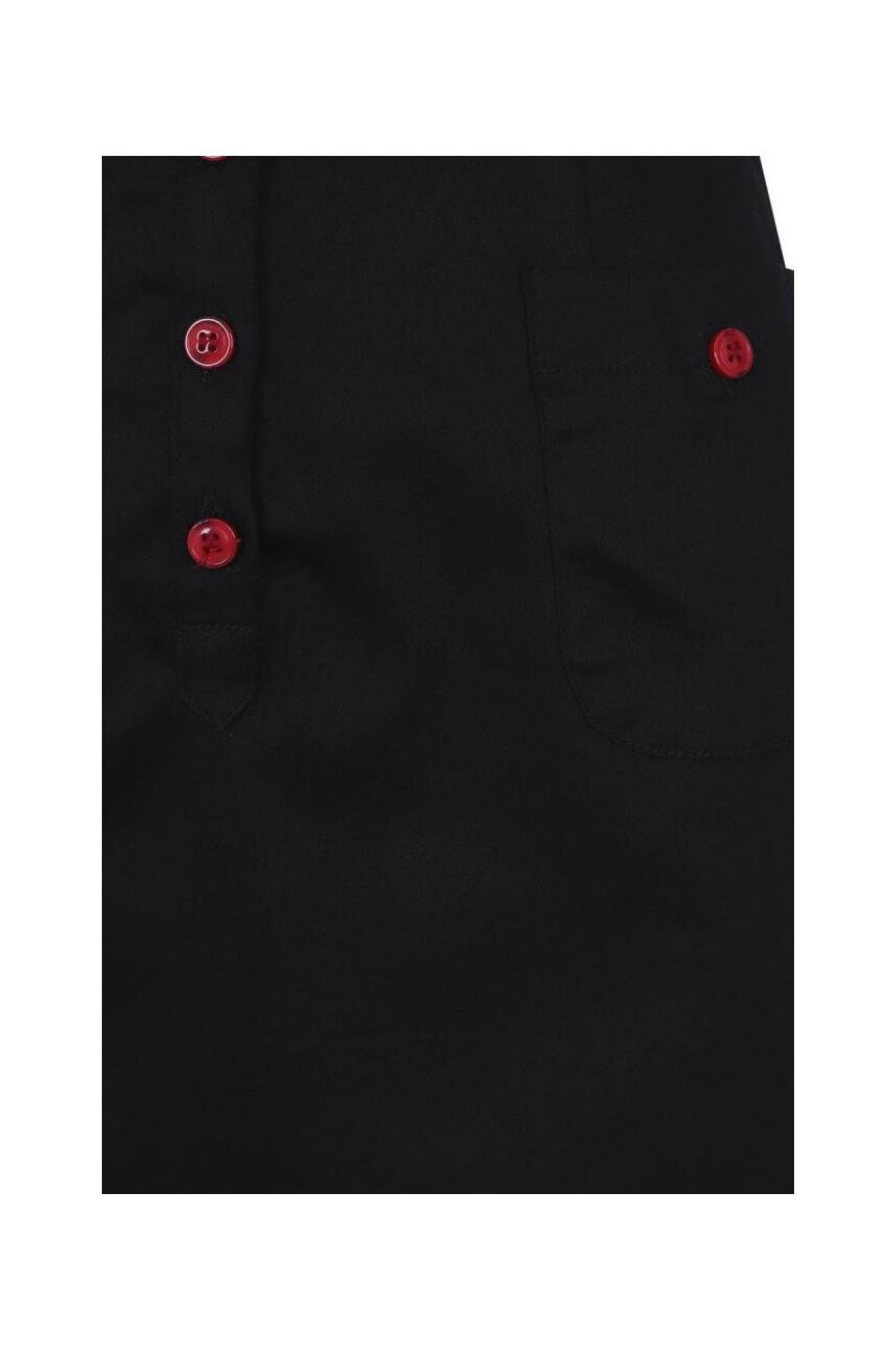 Robe noire fourreau collectif