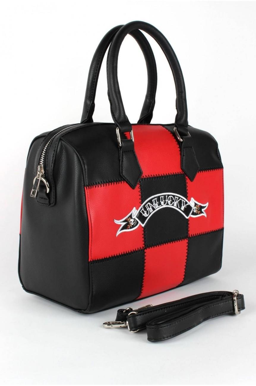 Sac noir et rouge rockabilly
