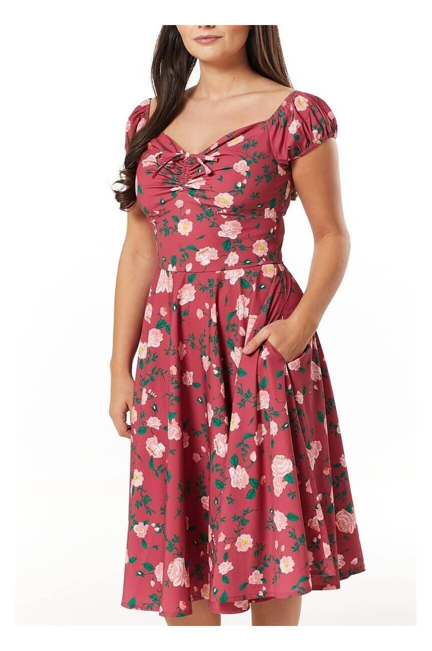 Robe années50 fleurs