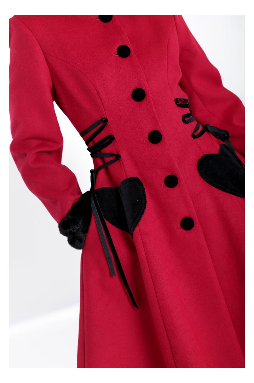 Manteau rouge coeur hell bunny