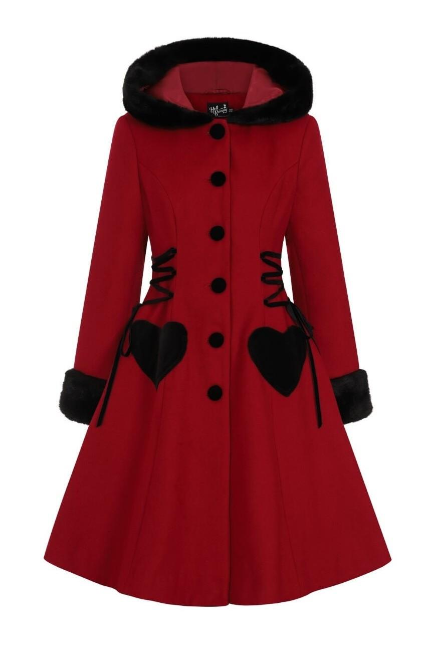 Manteau rouge retro
